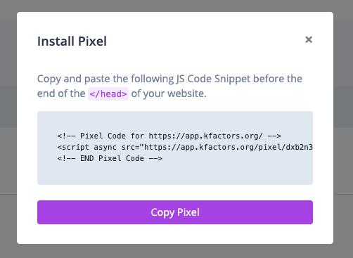 K Factors Install Widget Code